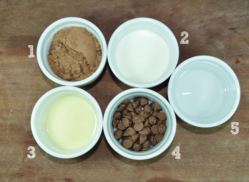 sorvete de chocolate com brigadeiro ingredientes